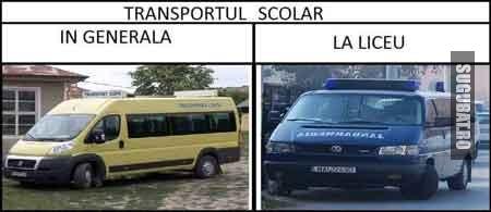 Transportul scolar: generala vs liceu