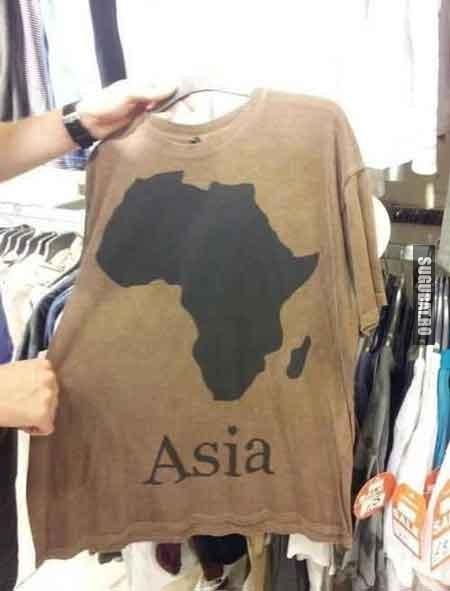 Tricou tiparit gresit cu Asia - cineva sigur nu a luat BAC-ul la geografie