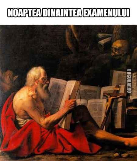Noaptea dinaintea examenului