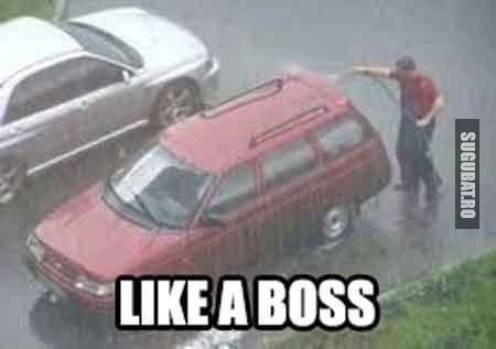 Momentul ala cand speli masina Like a Boss