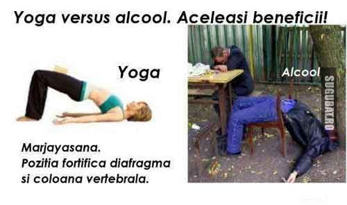 Yoga vs Alcool - aceleasi beneficii