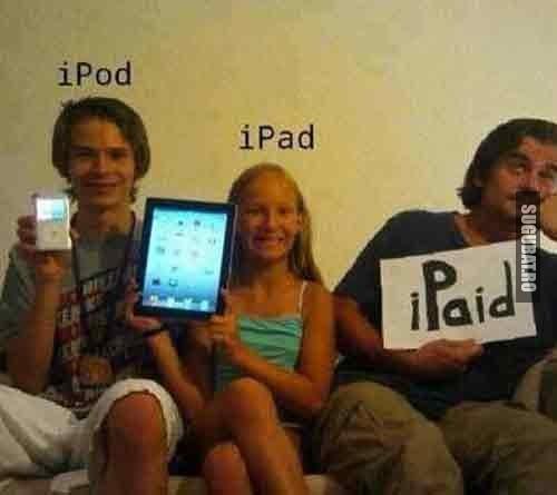 Fiecare cu ce poate: iPod vs iPad vs iPaid
