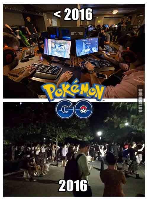 Gamerii inainte si dupa 2016 (Pokemon Go)