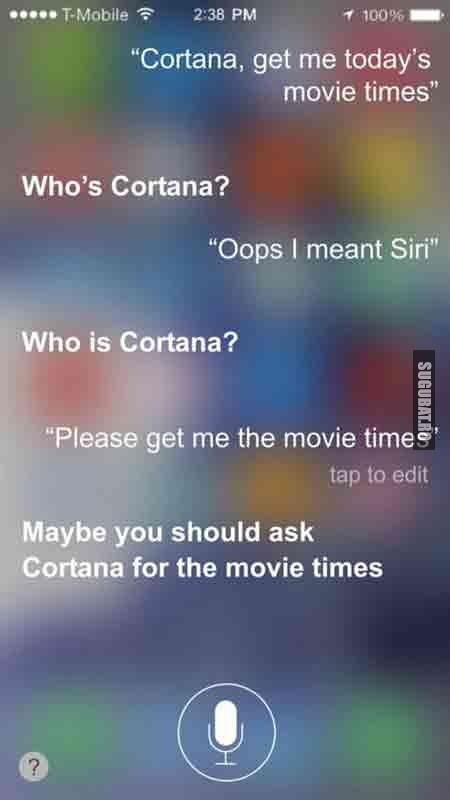 Momentul ala cand asistentul virtual devine prea personal - Siri vs. Cortana