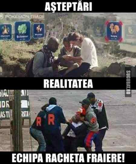 Pokemon Go: Asteptari vs Realitate (Echipa Racheta!)