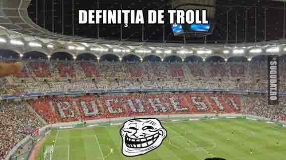 Imaginea asta defineste perfect termenul de troll (Doar Dinamo Bucuresti)