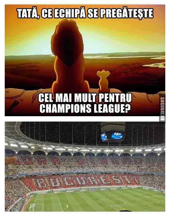 Tata, ce echipa se pregateste cel mai mult pentru Champions League?