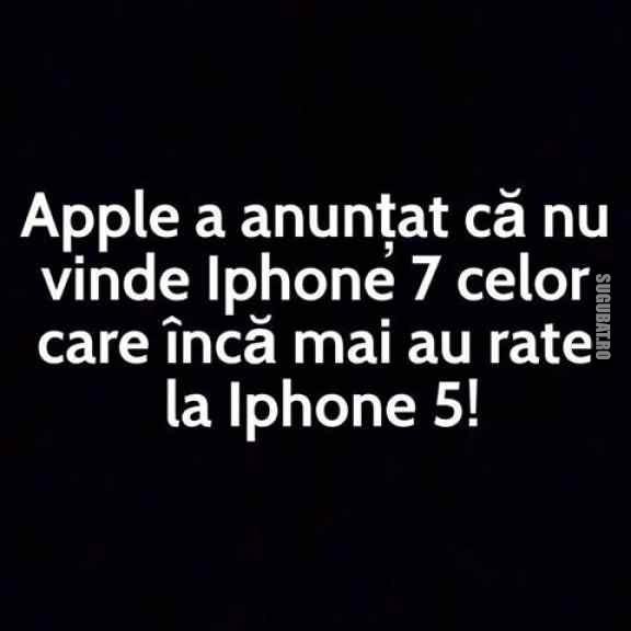 Anunt facut de Apple referitor la iPhone 7