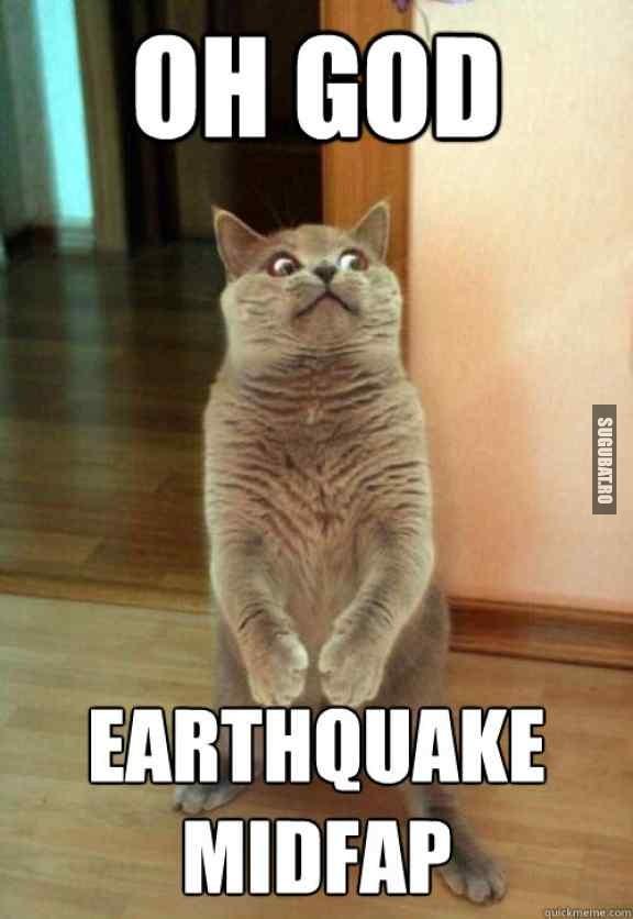 Cand te prinde cutremurul in plina actiune