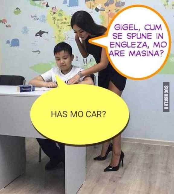 Gigel stie engleza!!