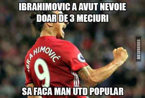 Ibrahimovic la Man Utd