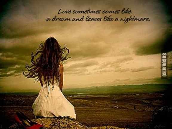 Love sometimes comes like a dream