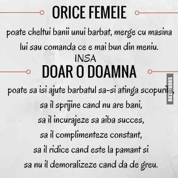 O femeie  /  o doamna