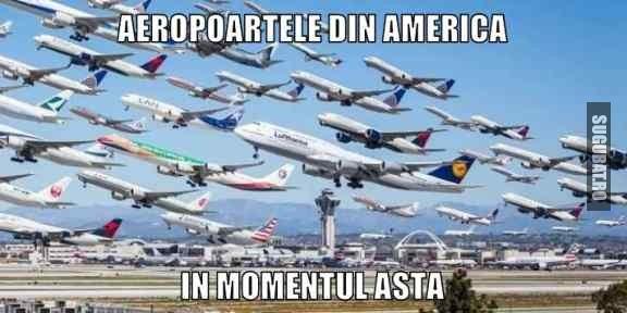 Aeropoartele din America in momentul asta