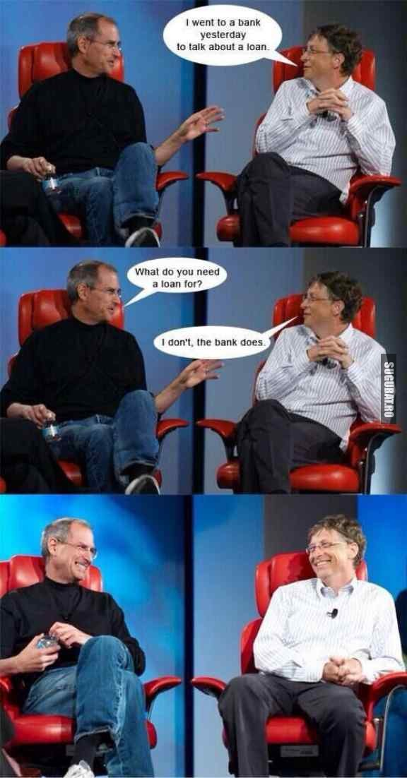 Bill Gates si imprumutul la banca