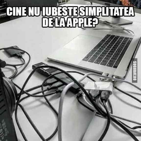 Cine nu iubeste simplitatea de la Apple?