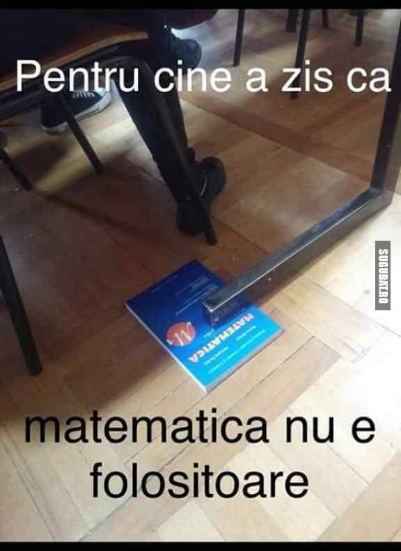 Dovada ca matematica e folositoare
