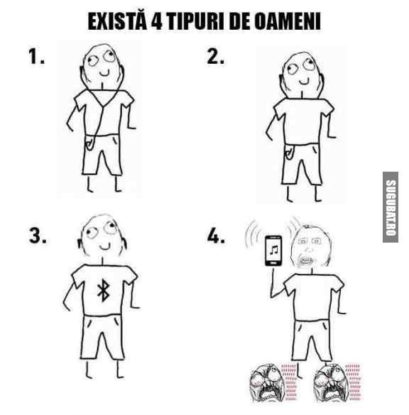 Exista 4 tipuri de oameni