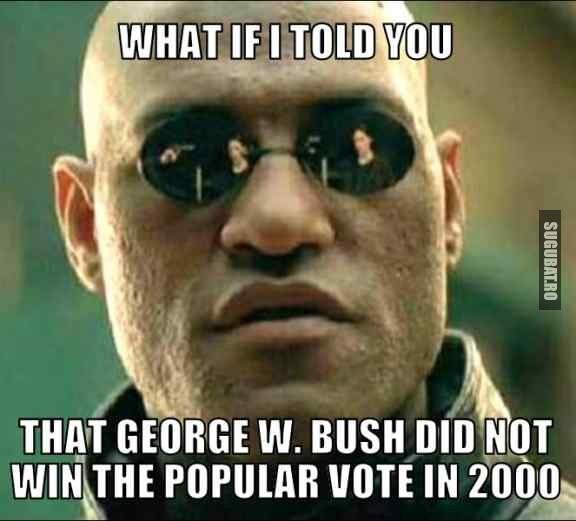 Nici George W. Bush nu a castigat votul popular in 2000