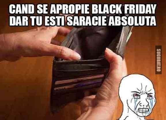Se apropie Black Friday si tu ai portofelul gol