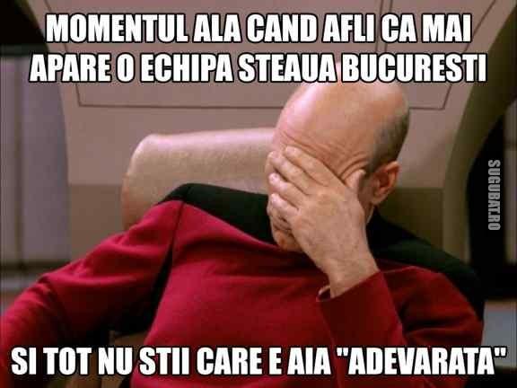 Cand afli ca mai apare o echipa Steaua Bucuresti