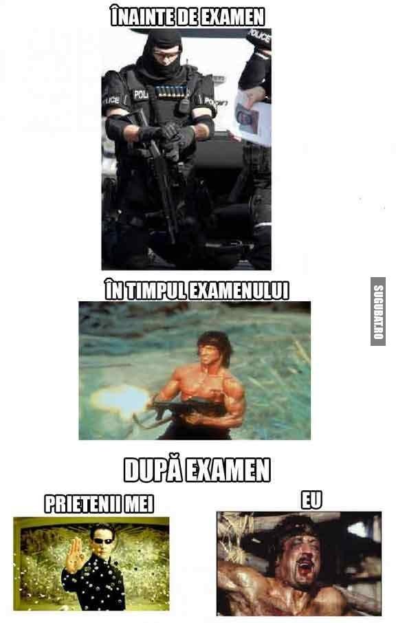 Inainte si dupa examene