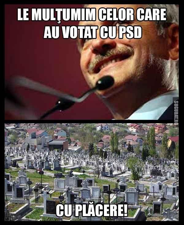 Le multumim celor care au votat cu PSD