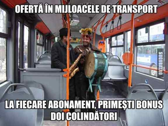 Oferta de Craciun in mijloacele de transport