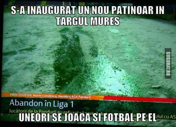 Patinoar pentru fotbal in Targu Mures