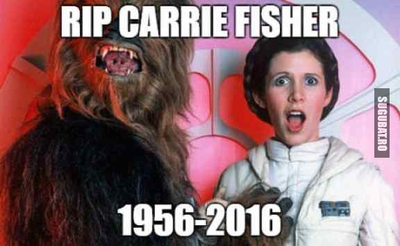 RIP Carrie Fisher, adevarata printesa