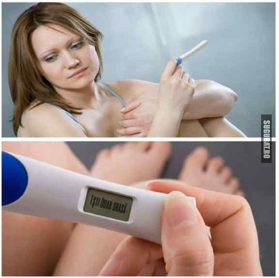Cand faci un test de sarcina dar esti doar grasa