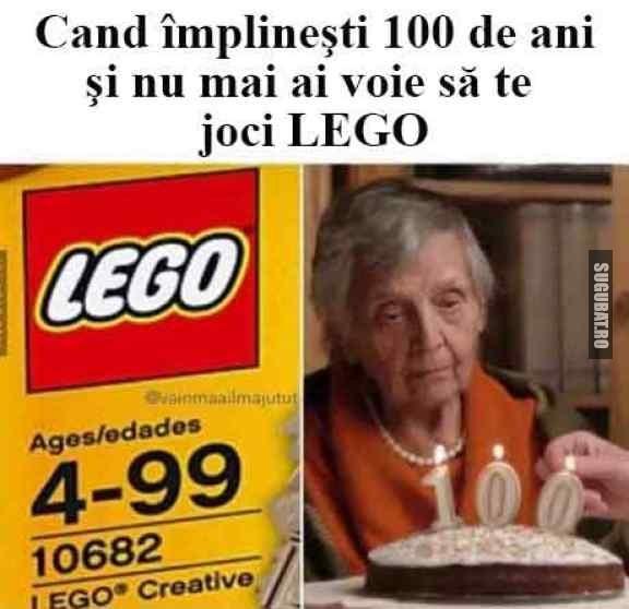 Cand implinesti 100 de ani si nu te mai poti juca LEGO