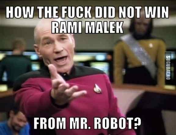 Cand vezi ca nu a castigat Rami Malek din MR. ROBOT