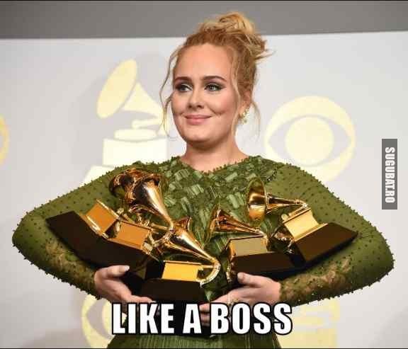 Adele la premiile Grammy Like a Boss