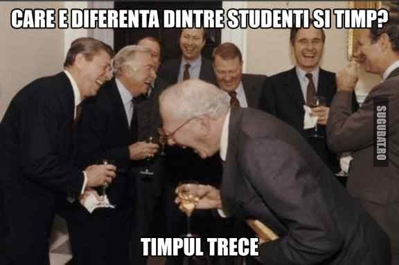 Glume de profesori: Diferenta dintre studenti si timp