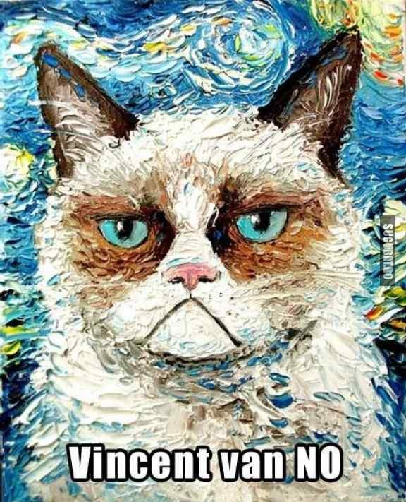 Grumpy Cat un fel de Vincent van NO