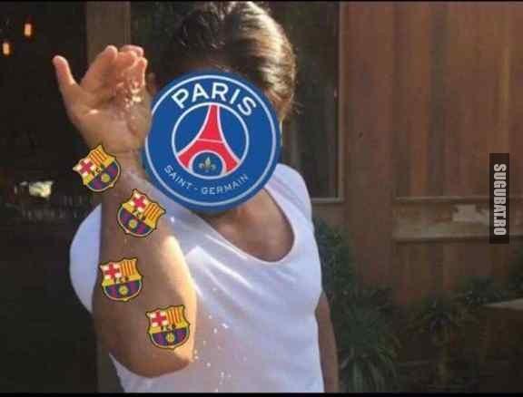 PSG in momentul asta #Barcelona