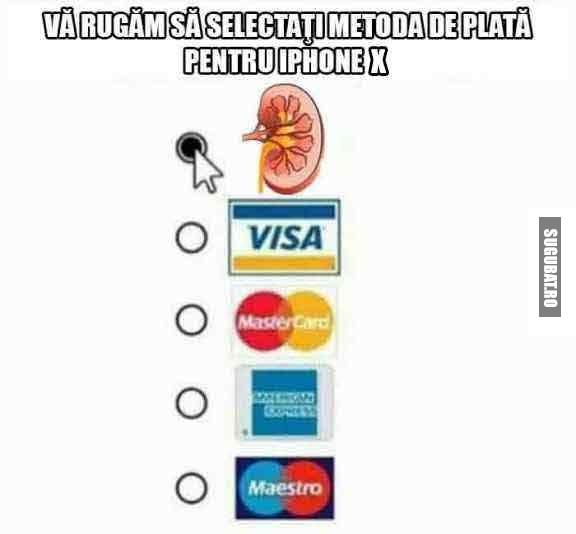 Metoda de plata pentru iPhone X