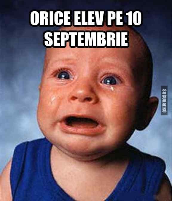 Orice elev pe 10 septembrie