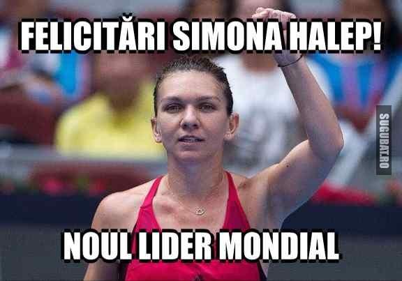 Simona Halep este noul lider mondial