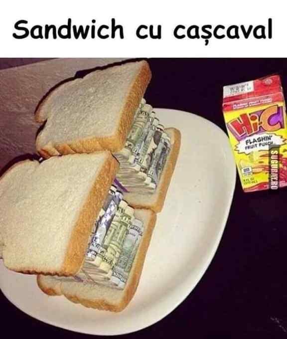 Sandwich cu cascaval