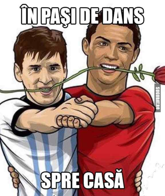 Messi si Ronaldo in pasi de dans spre casa #WorldCup