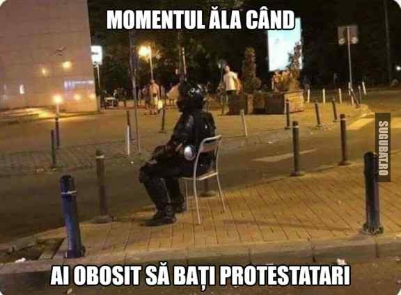 O pauza binemeritata de la batut protestatari