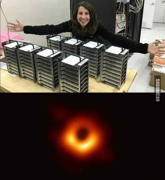 A fost nevoie de 5 Petabytes pentru prima poza cu o gaura neagra