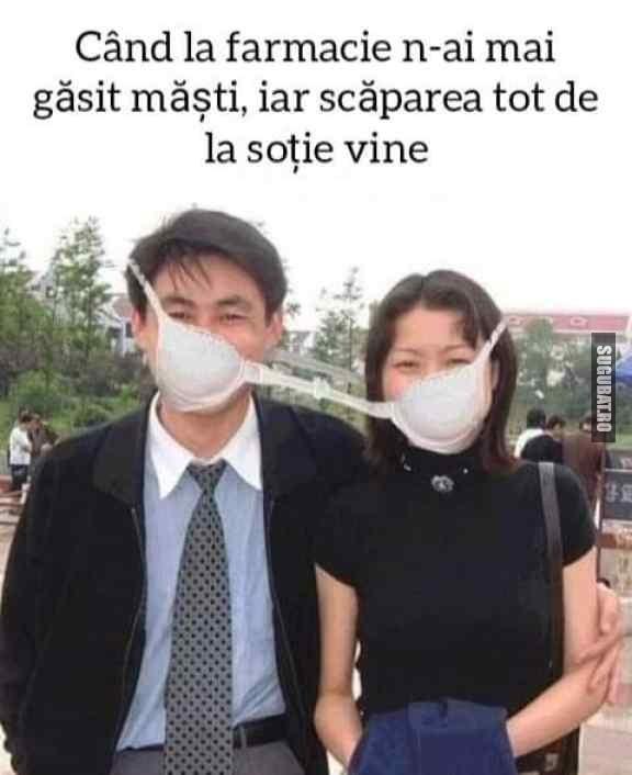 Soția are întotdeauna o soluție, chiar și pentru coronavirus