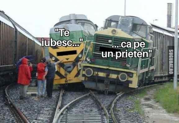 Te lovește fix că trenul
