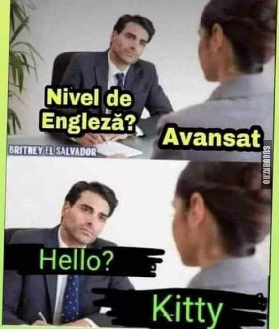 Cand esti avansat la engleza