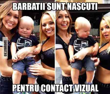 Barbatii sunt nascuti pentru contact vizual