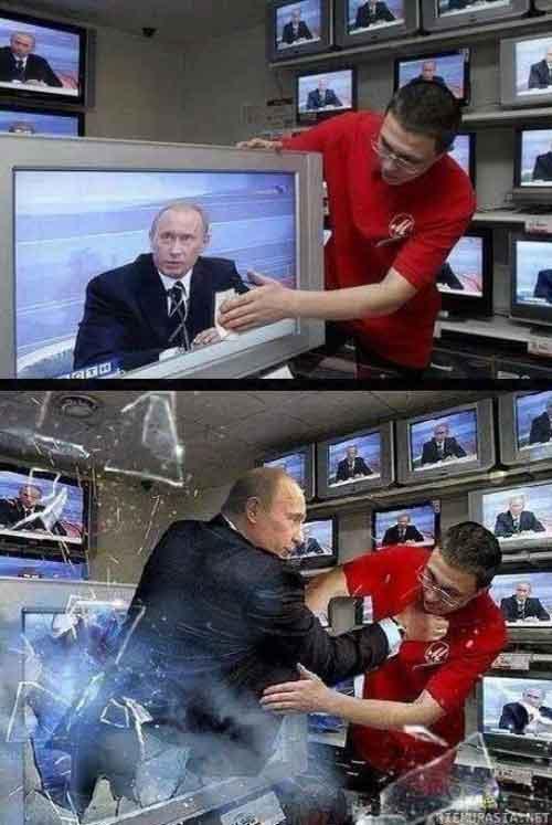 Cu Putin nu iti merge nici prin televizor