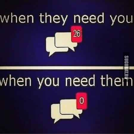 Cand prietenii au nevoie de tine vs. Cand tu ai nevoie de prieteni
